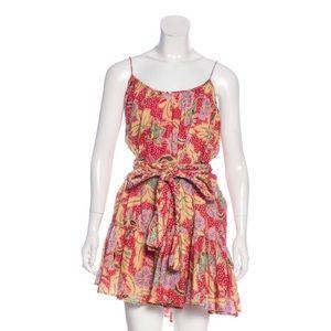 RHODE paisley mini dress